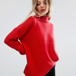 French Connection Red Knitted Sweater XS